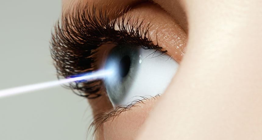 eye detecting a photon