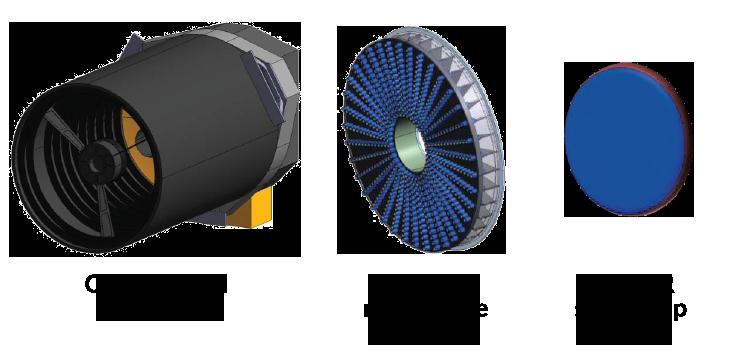 illustration of different telescope designs