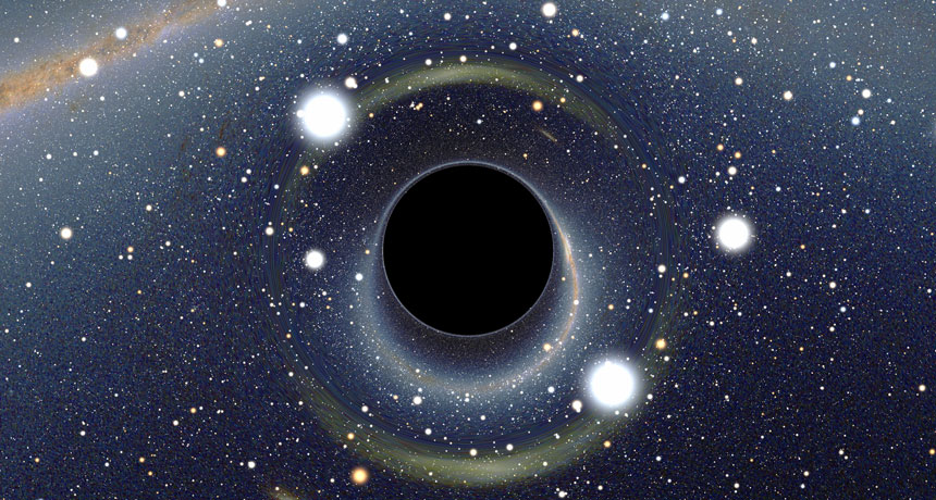 illustration of black holes