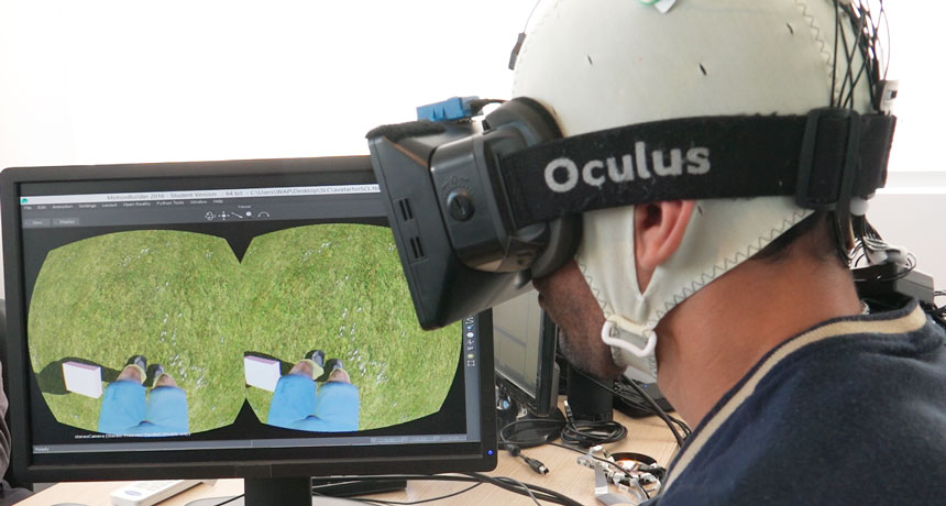 patient doing VR