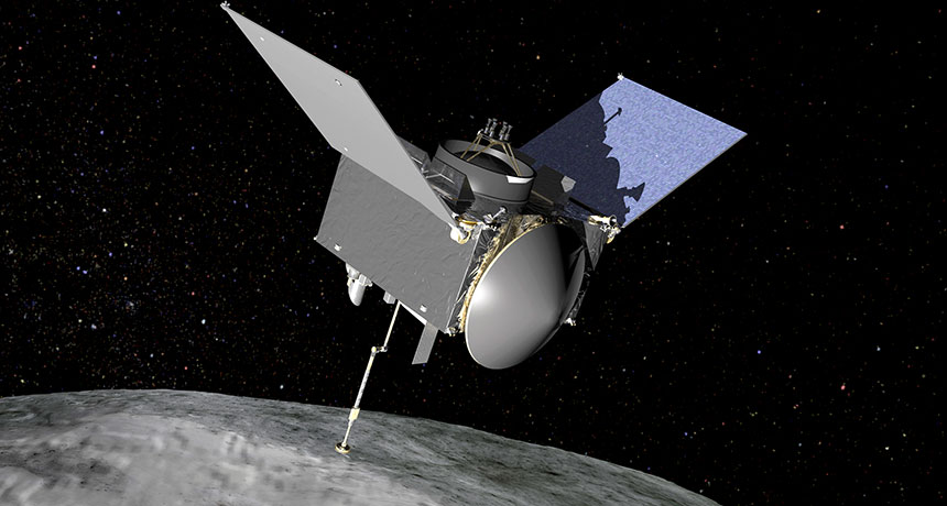illustration of OSIRIS-REx