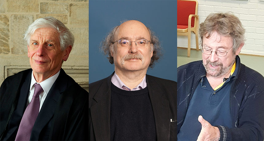 David Thouless, Duncan Haldane and Michael Kosterlitz