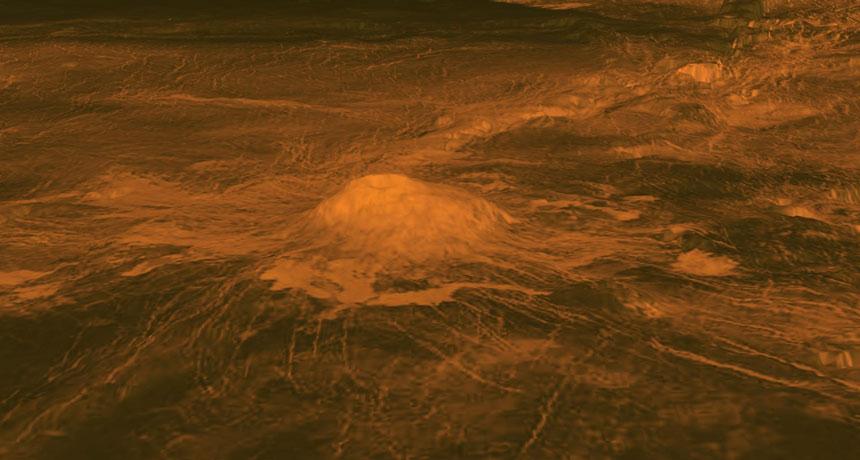Idunn Mons on Venus