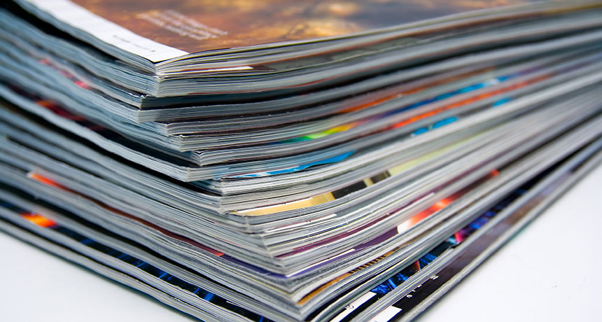 stack of scientific journals