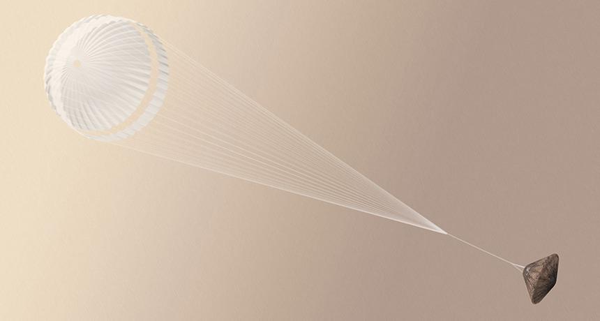 illustration of Schiaparelli lander