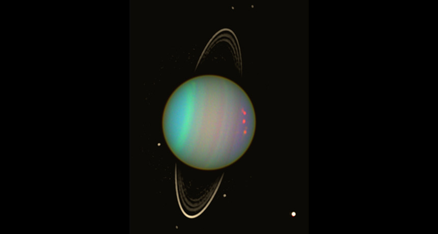 Uranus image from Hubble Telescope