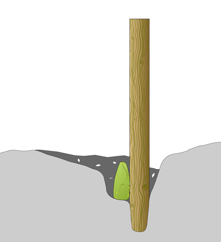 illustration of a stick in a hole