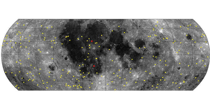 map of craters on moon's surface