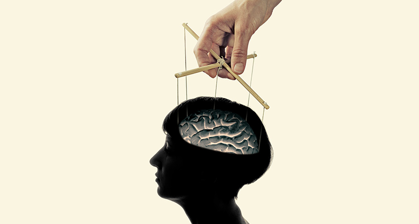 illustration of brain as marionette