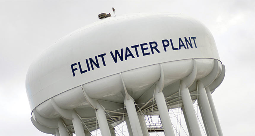 Flint, Mich., water tower