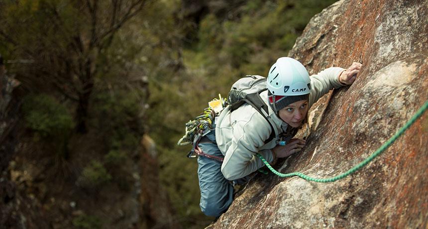 a rockclimber