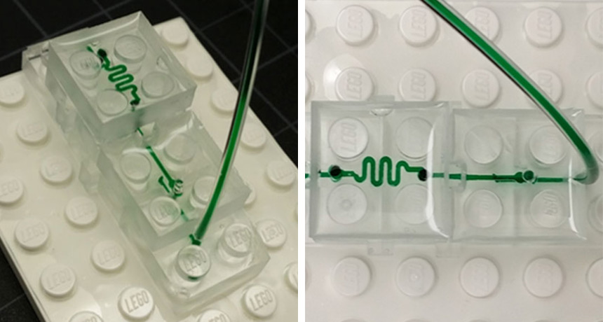 microfluid device made of lego-like blocks