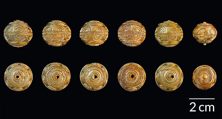 Iron Age gold spheres