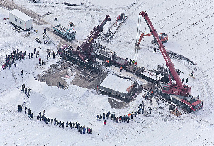 German excavation site