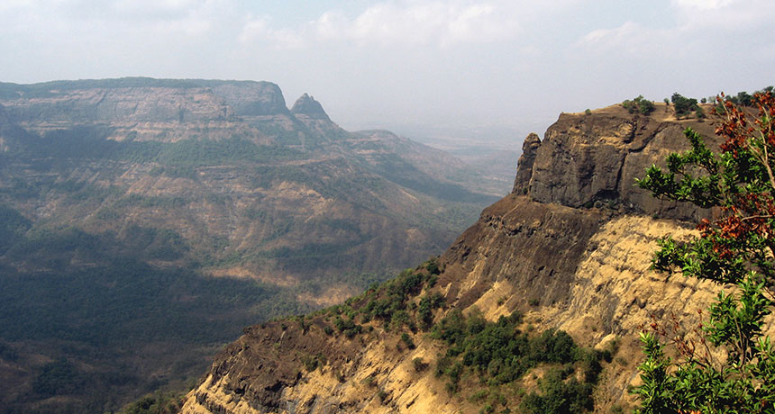 The Western Ghats hills at Matheran in Maharashtra, India