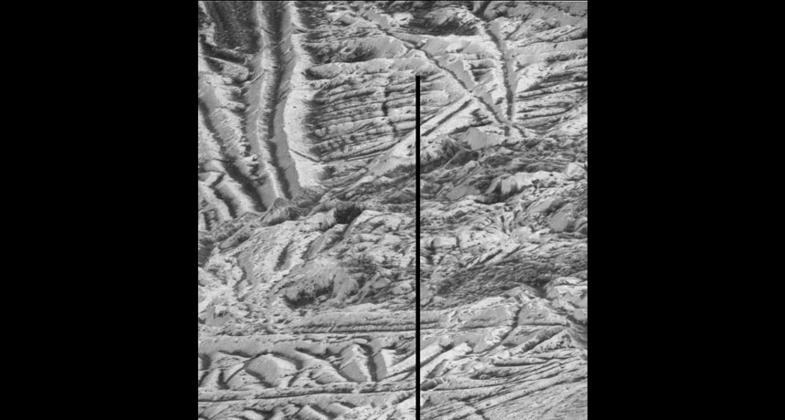 icy surface of Europa