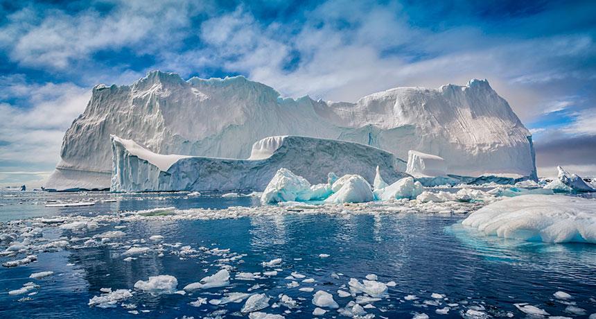 sea ice around Antarctica