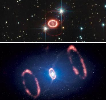 Rings around Supernova 1987A