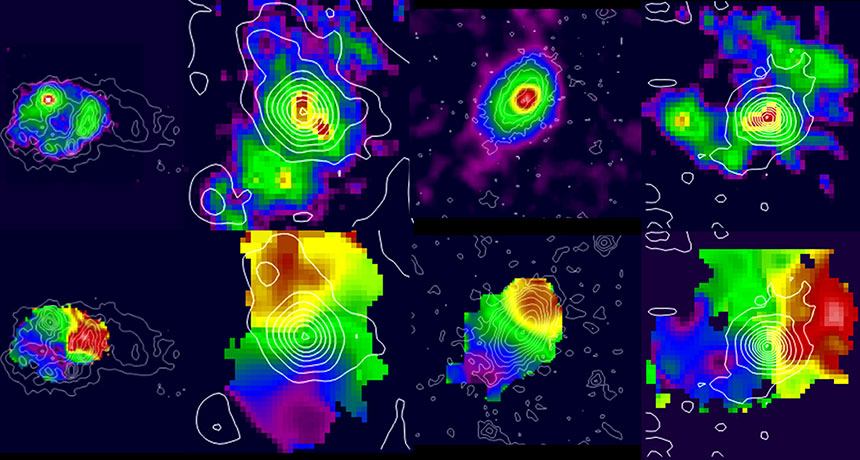 hydrogen signatures of galaxies