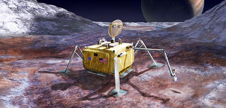 illustration of potential Europa lander