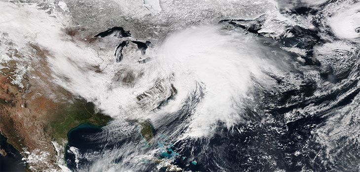 storm as seen from space