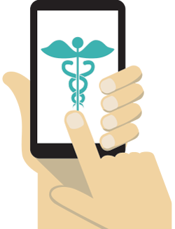 illustration of a healthcare app