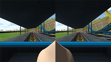 a virtual nose in the field of view