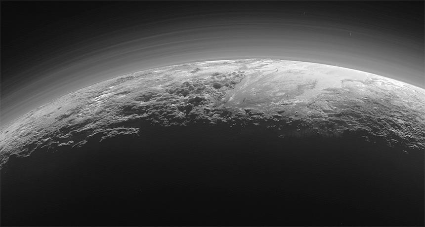 Pluto's hazy horizon