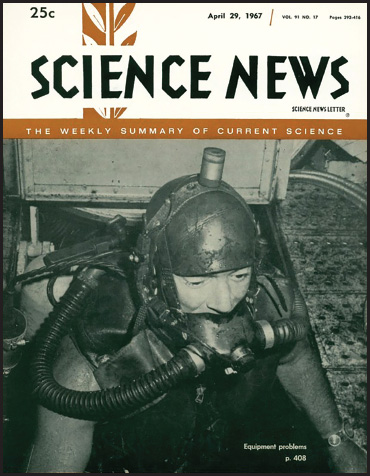 Science News cover from April 29, 1967
