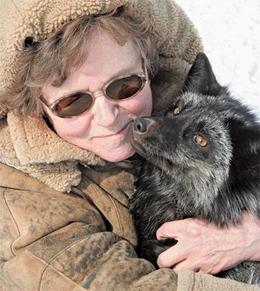 Lyudmila Trut with fox