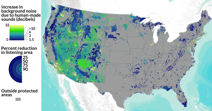 US sound pollution mapped
