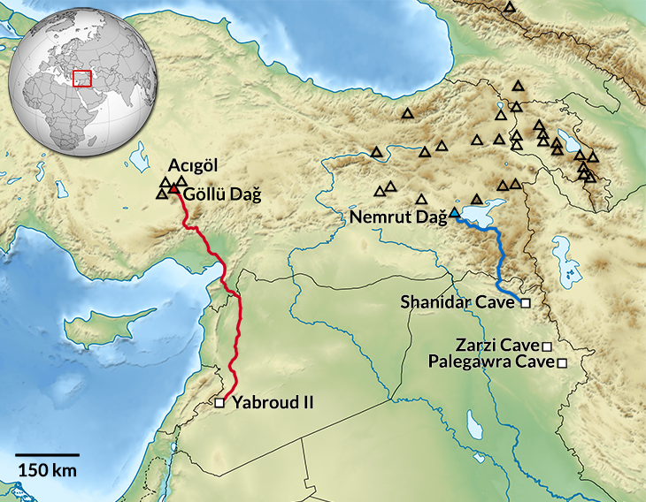 Map of Stone Age Sites