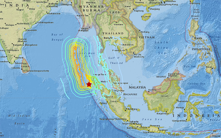 shaking from the 2004 Sumatra earthquake