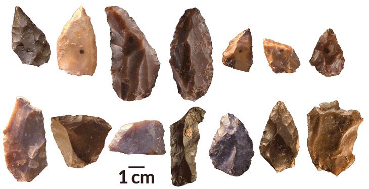 ancient sharp-edged tools
