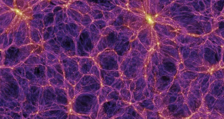 simulation of cosmic void