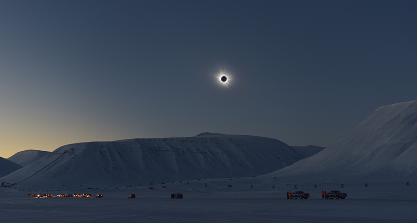 Eclipse in Svalbard