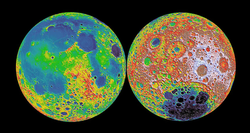 moon false-color image
