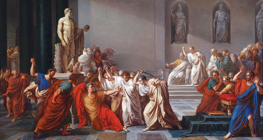 painting of Caesar's last moments