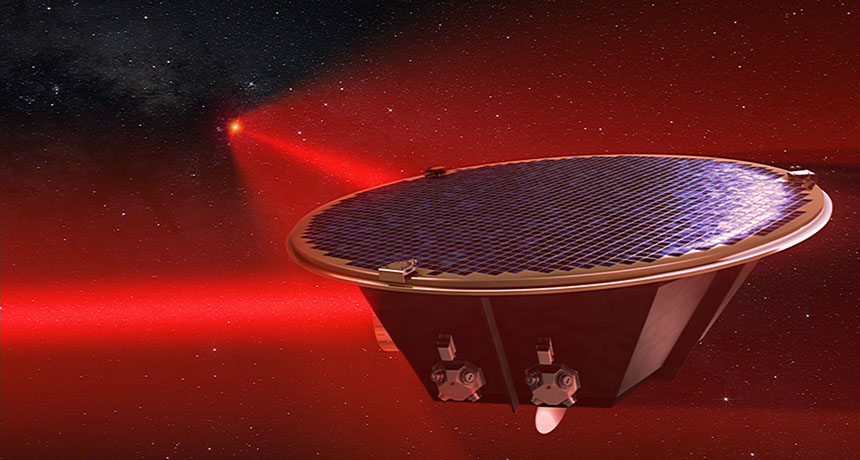 illustration of LISA satellite