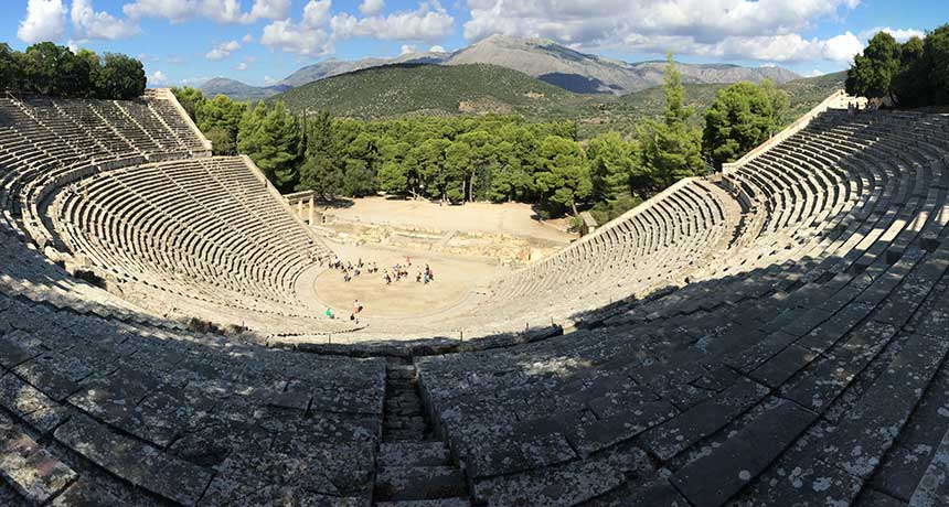 Greek amphitheater in Epidaurus