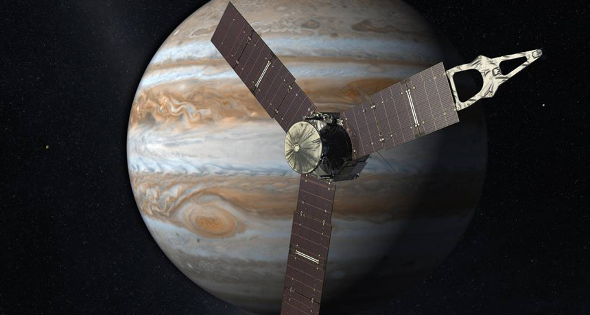 Juno spacecraft illustration