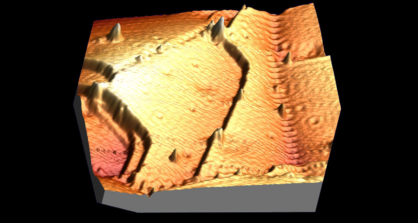 microscope image of copper