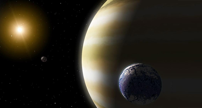 illustration of exomoons