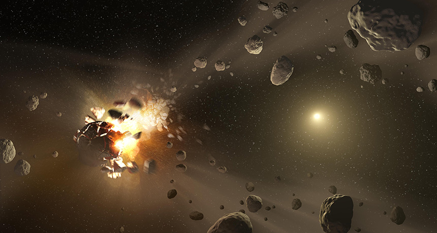 asteroid wreckage illustration
