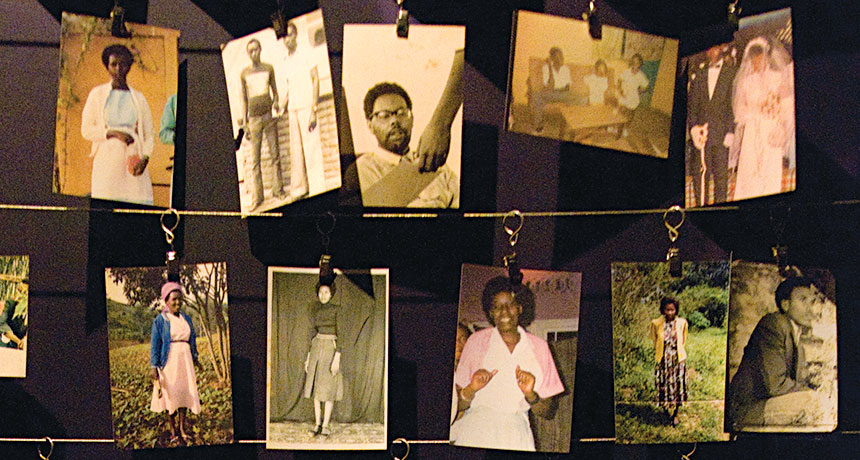 Photographs of Rwandans killed in 1994 genocide