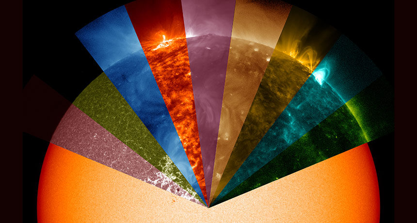 multi-wavelength mosaic of the sun