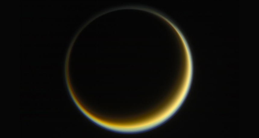 Cassini image of Saturn's moon Titan