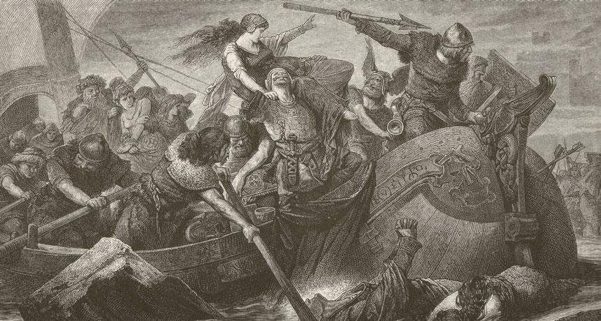 Viking raid illustrated