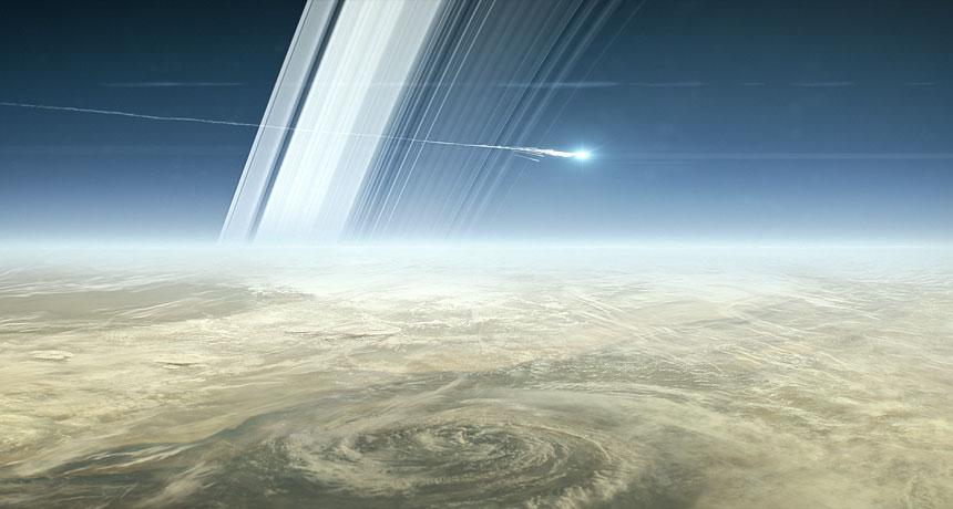 Illustration of Cassini's death