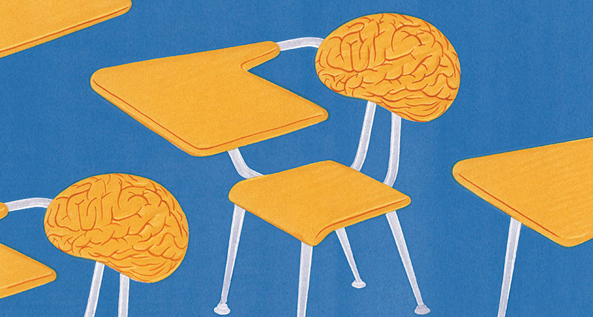 illustration of classroom brain chairs